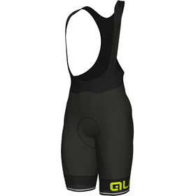 Alé Cycling Corsa Bibshorts Herrer, black-fluo yellow